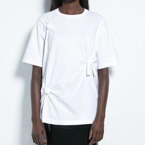 Helmut Lang Womens Knot Tee Oversized T Shirt